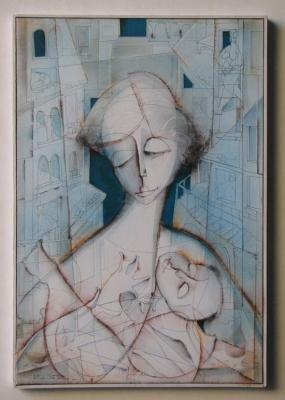 «Donna con bambino»