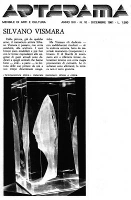 Rivista Arterama, 1981 - Opera «Scomposizione ottica», materiale: monomero, ottone e colore.